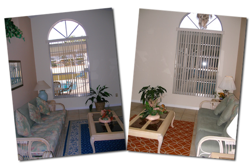 Lounge arch window both
